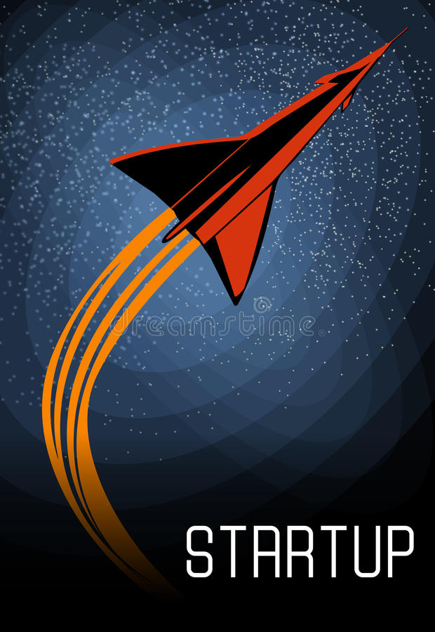 Space oddity. Rocket launch and text. Vector image retro black and white movie style. Space oddity. Rocket launch and text. Vector image stock illustration