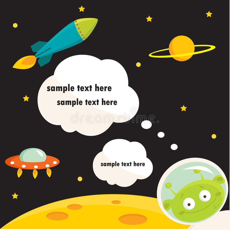 In Space Party Invitation Royalty Free Stock Photo