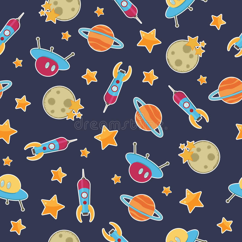Space pattern royalty free illustration