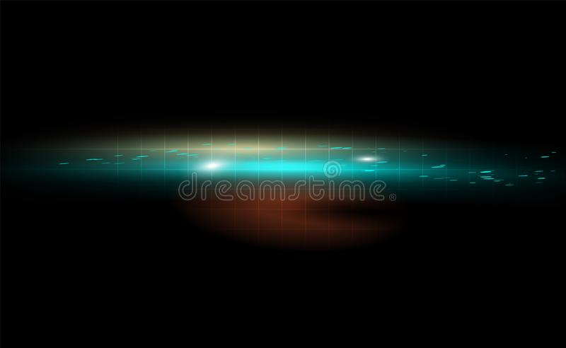 Space perfect flight glowing dark vector background. Azure abstraction out in a grid illustration blurred blots. The pattern can royalty free illustration