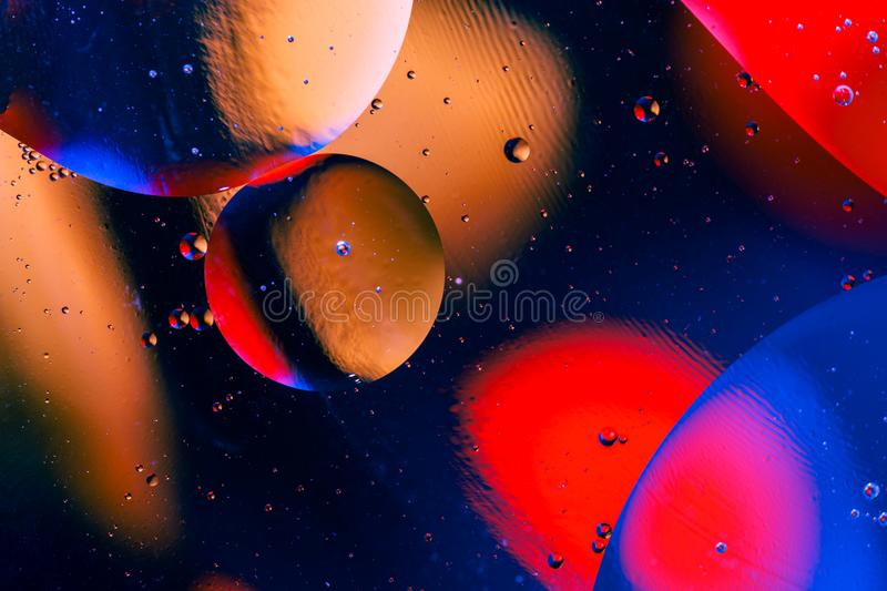 Space or planets universe cosmic abstract background. Abstract molecule atom sctructure. Water bubbles. Macro shot of air or molec stock photography