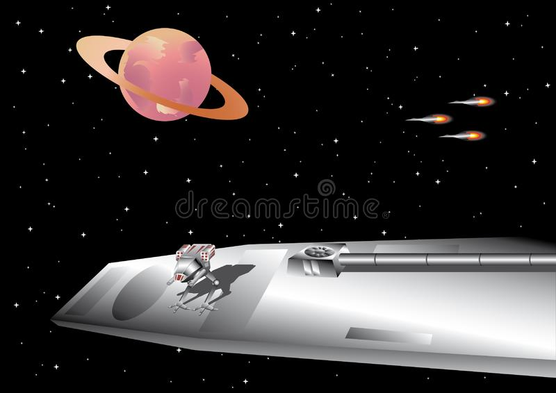 Space platform royalty free stock photography