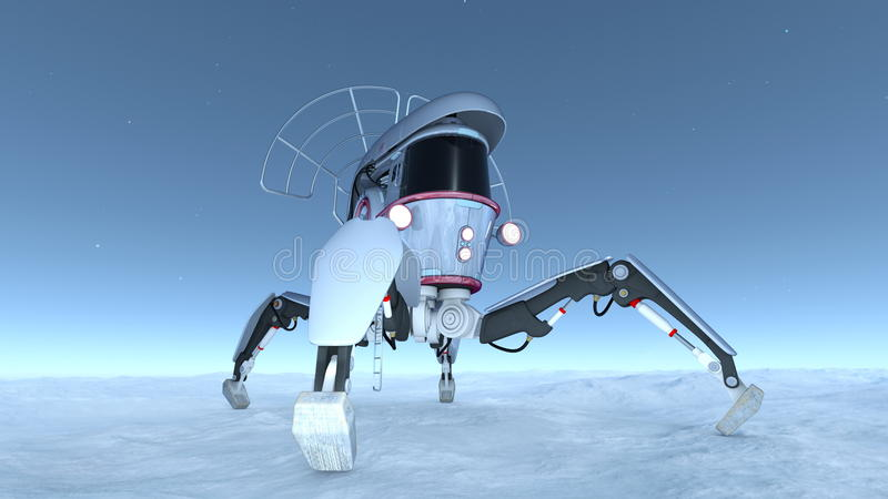 Space probe. Image of a space probe stock illustration