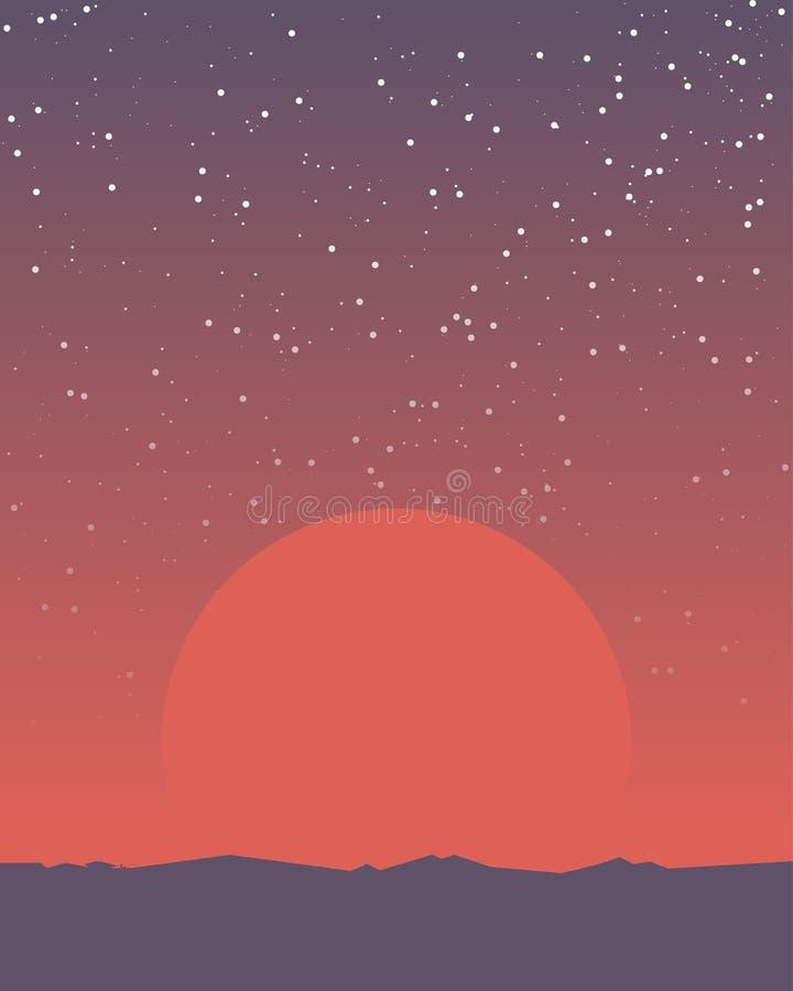 Space retro banner stock illustration