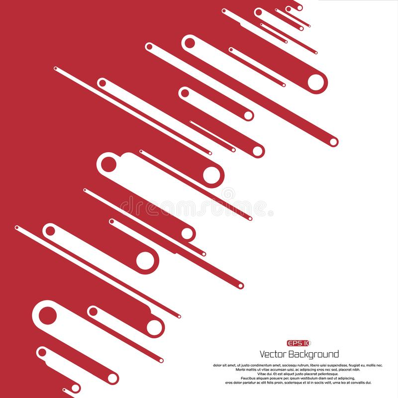 Space in right contrast red and white background with circle shape illustration vector vector illustration