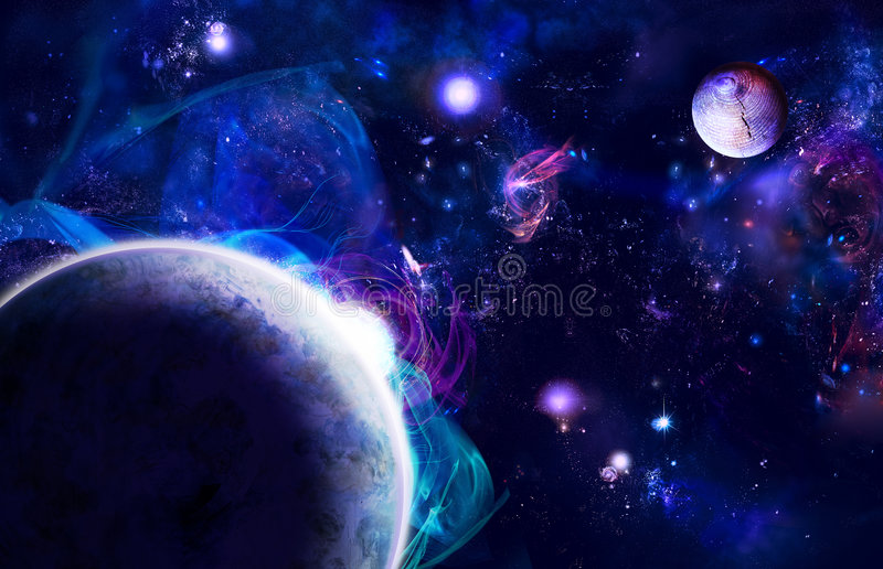 Space rising royalty free illustration