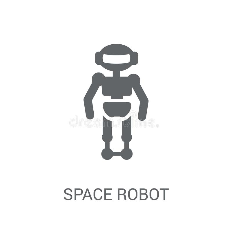 Space robot icon. Trendy Space robot logo concept on white background from Astronomy collection stock illustration