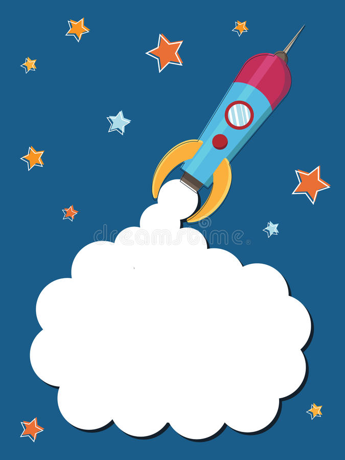 Download Space rocket stock vector. Image of blue, spaceship, blank - 13647658