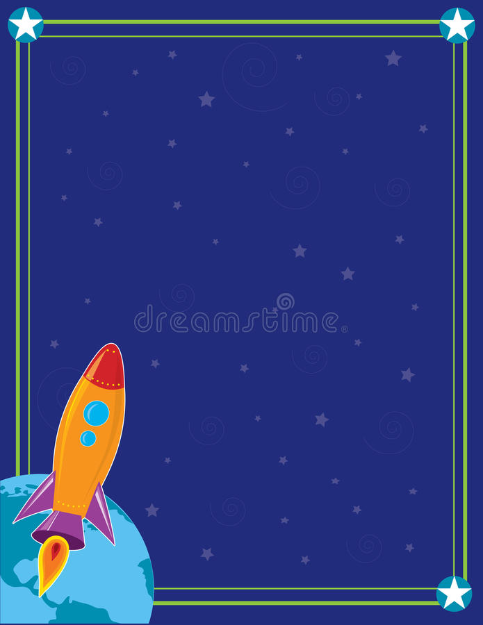 Download Space and Rocket stock vector. Image of ship, outer, universe - 21731658