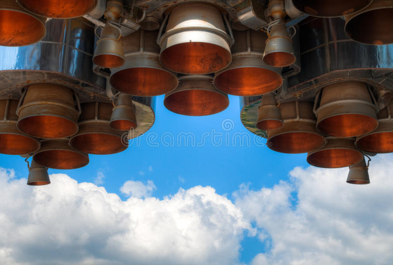 Space rocket engine royalty free stock image