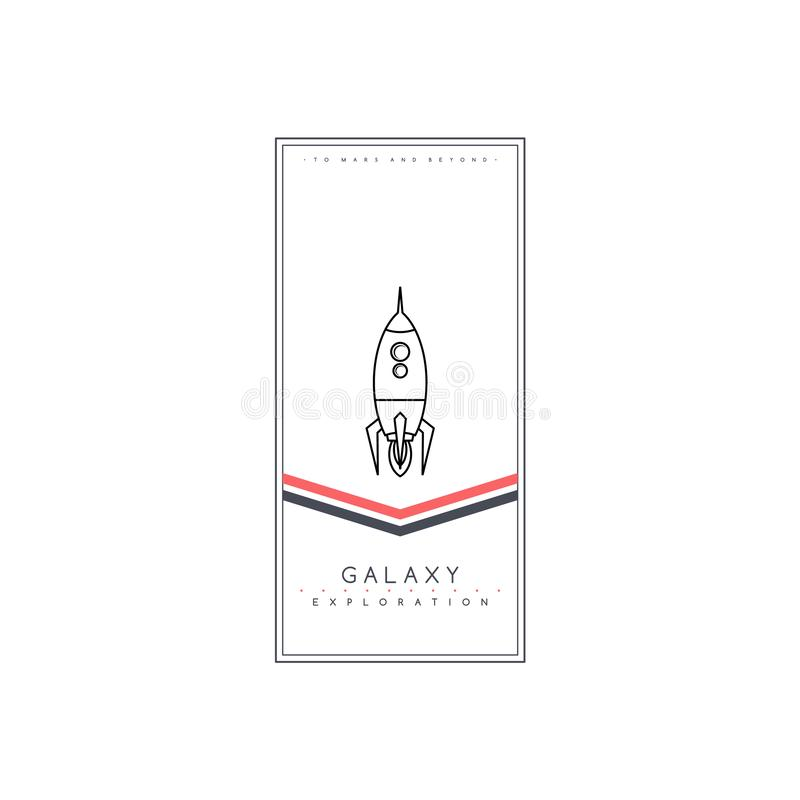 space rocket expedition science ship shuttle stock illustration