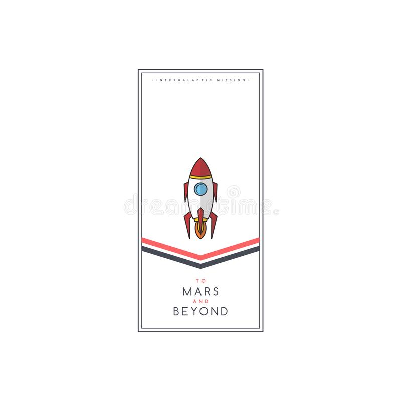 space rocket expedition science ship shuttle royalty free illustration