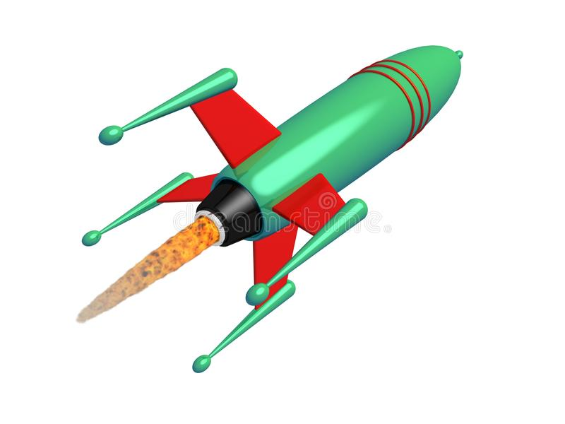 Space rocket in flight royalty free stock image