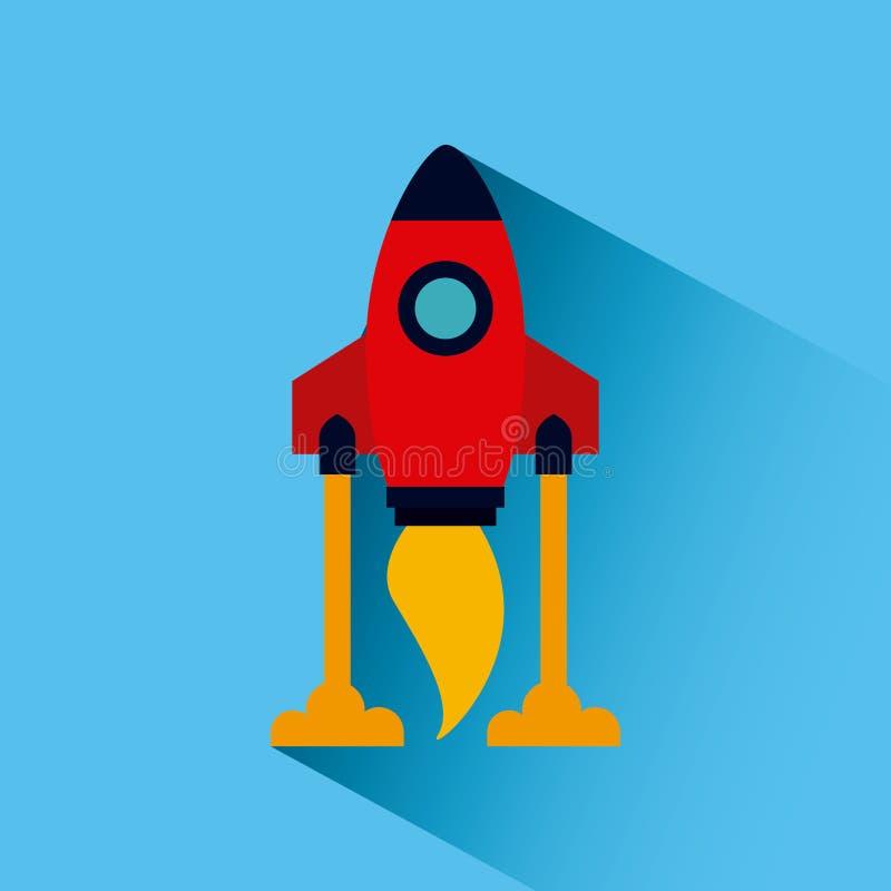 space rocket icon royalty free illustration