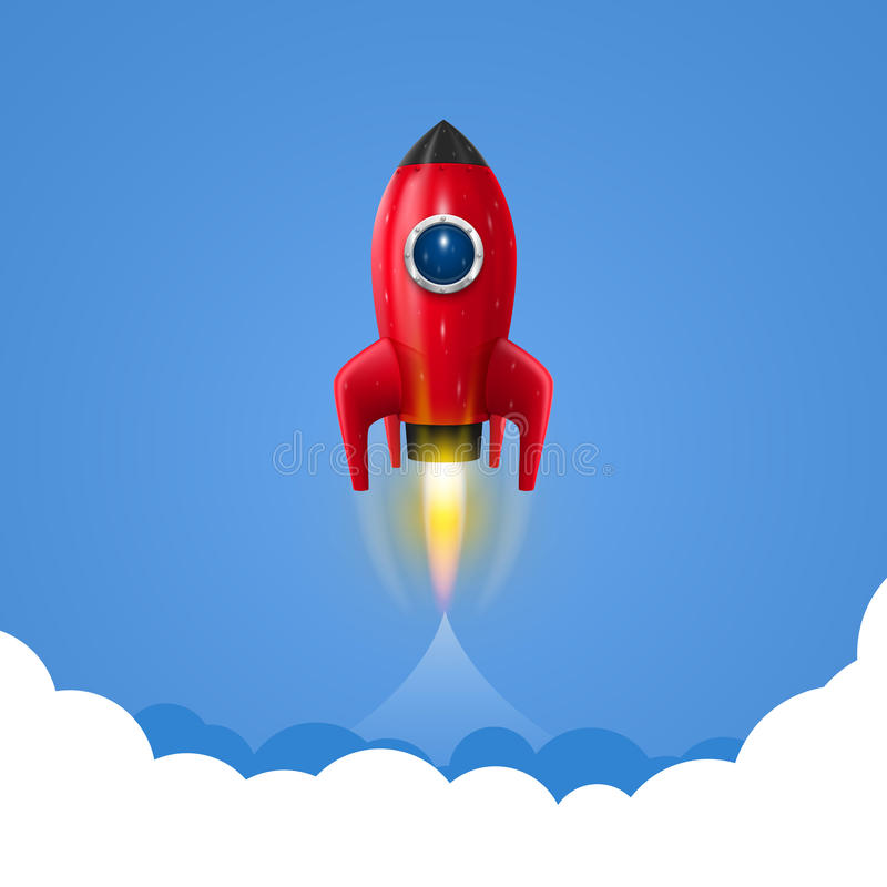 Space rocket launch royalty free illustration