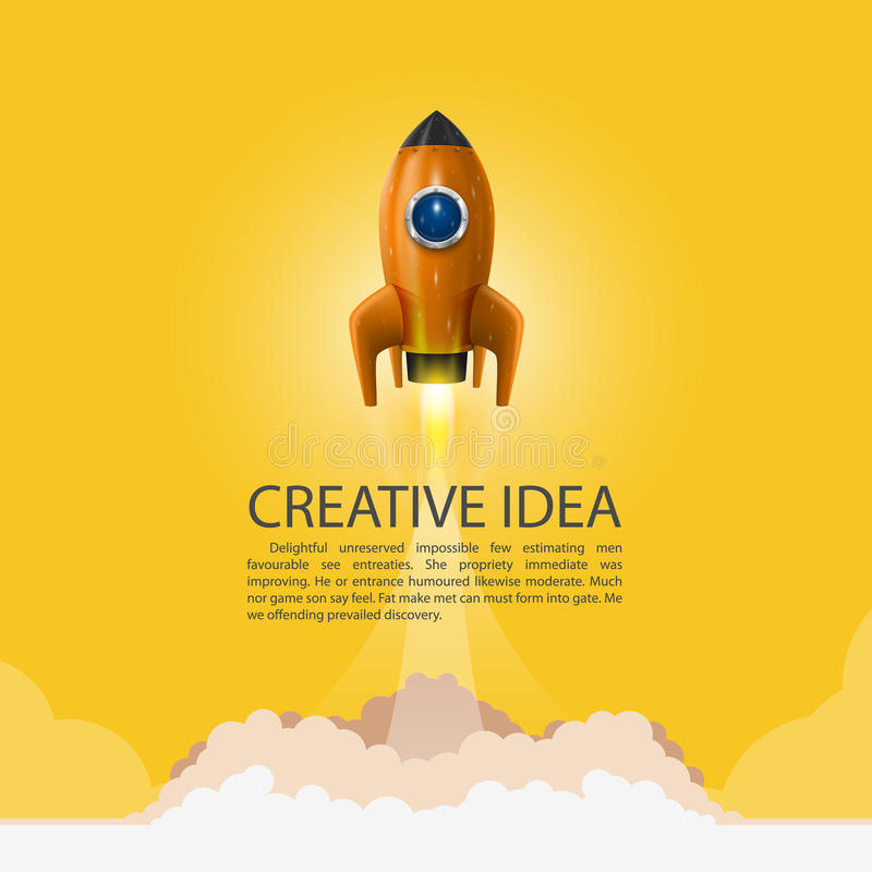 Space rocket launch. Rocket background, Rocket product cover, Startup creative idea, Vector illustration. Space rocket launch. Rocket background, Rocket product vector illustration