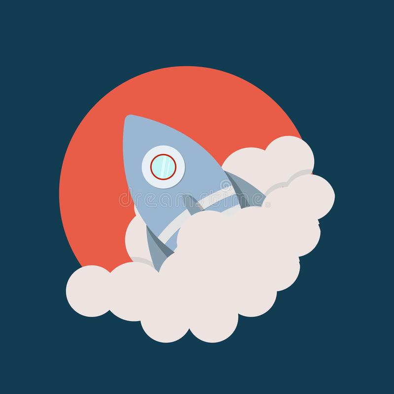 Space rocket launch, Startup creative idea, Rocket background, Vector illustration vector illustration
