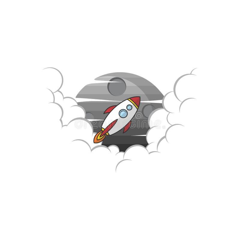 space rocket shuttle launch vector illustration