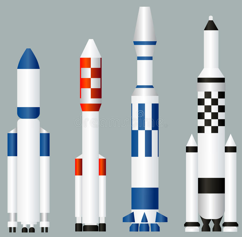 Space rockets stock illustration