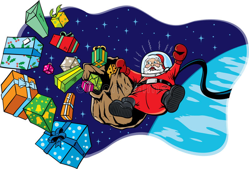 Download Space Santa stock vector. Illustration of gifts, haywire - 22133357
