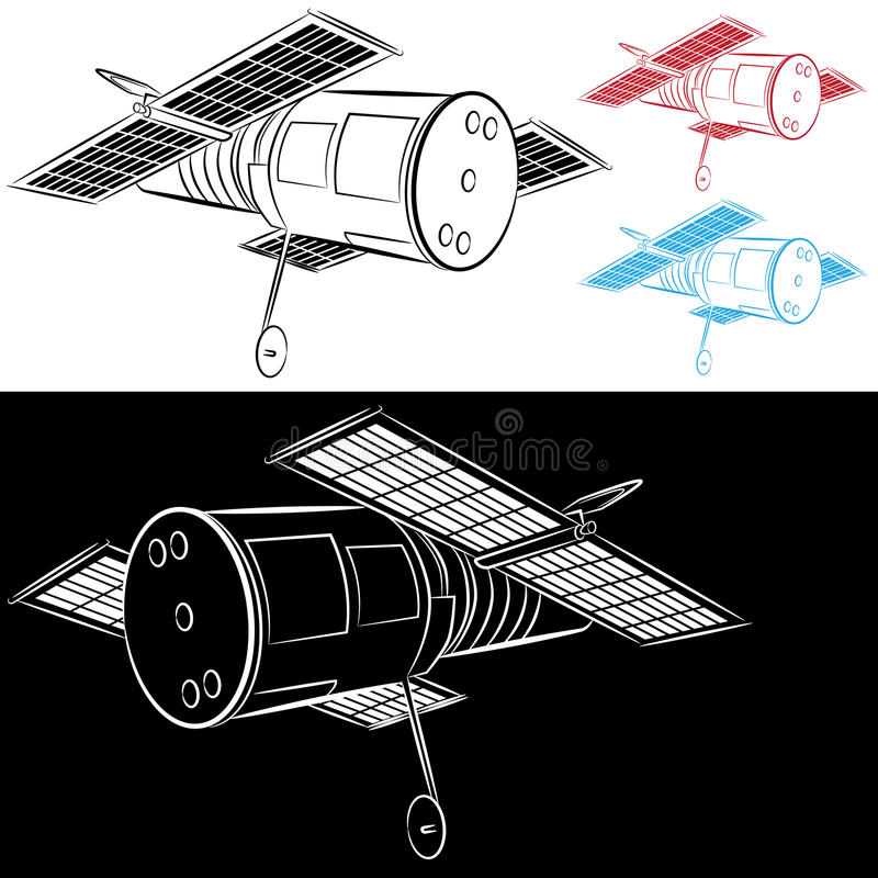 Download Space Satellite Drawing stock vector. Image of drawing - 26033872