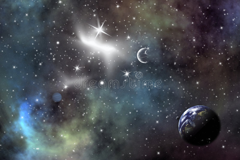 Download Space scenario stock illustration. Image of cosmic, starlight - 3142863