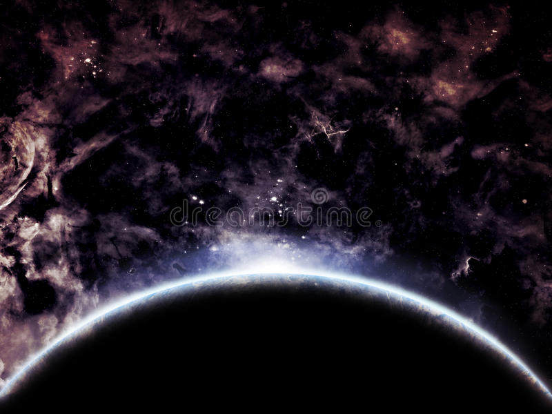 Download Space scenery stock illustration. Illustration of horizon - 21253298