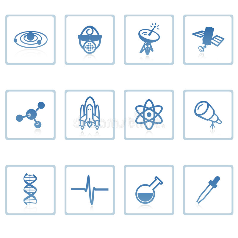 Space and Science icon I stock illustration