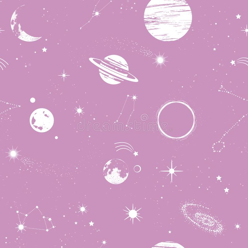 space seamless pattern beautiful galaxy stars planets constellations outer texture wallpapers fabric wrap web page 151099192
