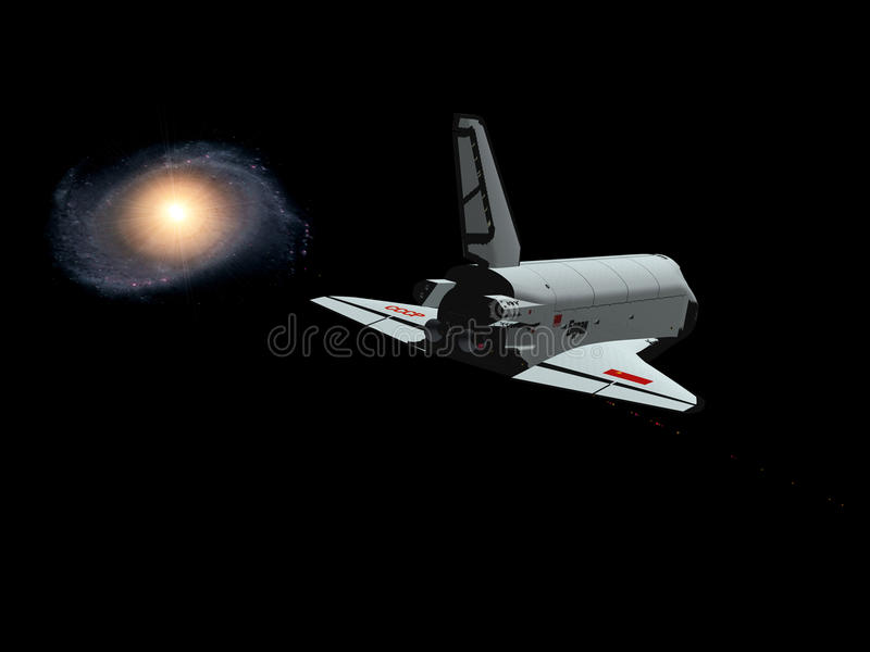 Download The space ship stock illustration. Illustration of cosmos - 10254219