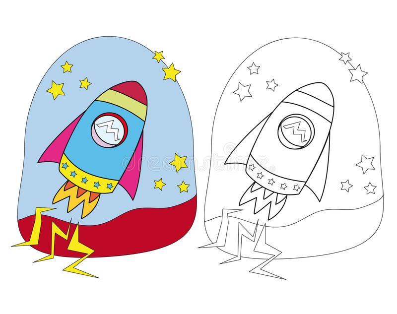 Space ship vector illustration