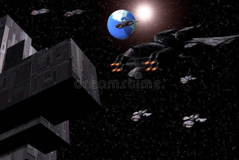 Space ship stock photos