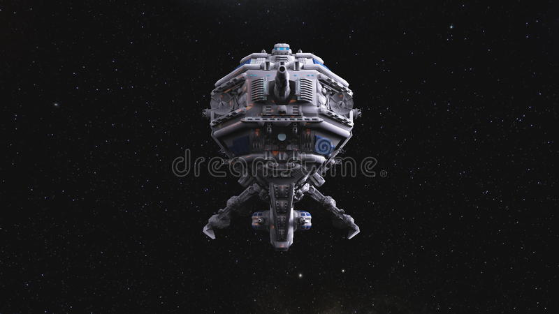 Space ship royalty free illustration