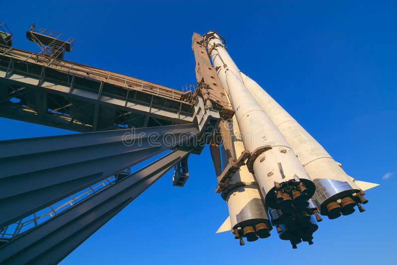 Download Space Ship On A Launch Pad Royalty Free Stock Photo - Image: 2295035