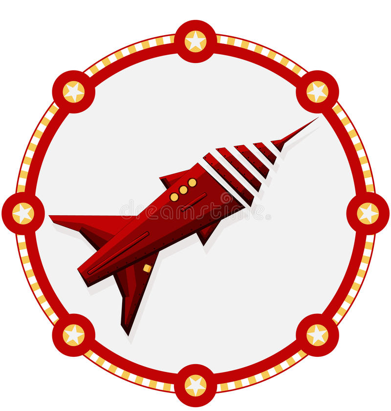 Space ship with a red frame