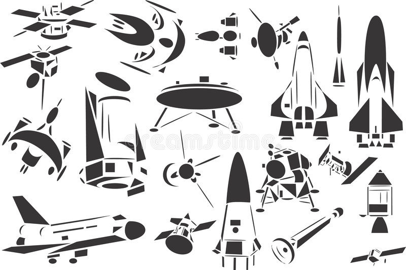 Space Ships stock illustration