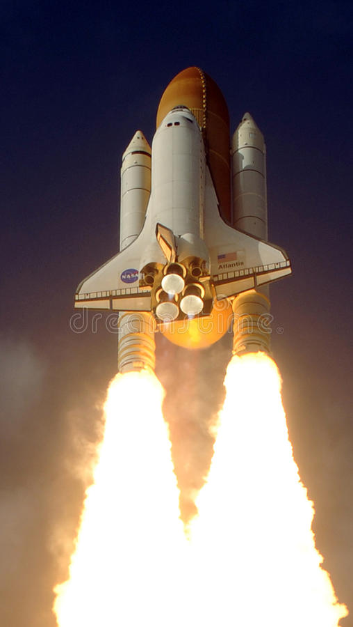 Download Space shuttle editorial stock image. Image of rocket - 12480554