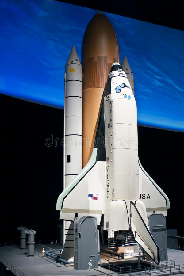 Space Shuttle. Model captured at the Air and Space museum stock photography