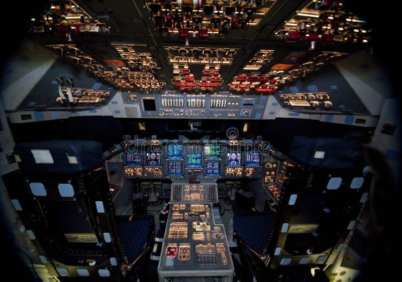 Space Shuttle Atlantis cockpit stock images