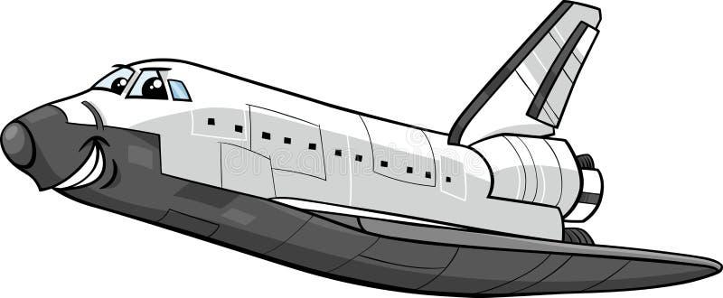 Space shuttle cartoon illustration. Cartoon Illustration of Funny Space Shuttle Comic Character vector illustration