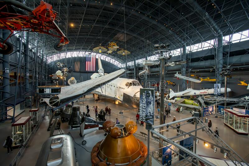 Space Shuttle Discovery in Space Hangar royalty free stock images