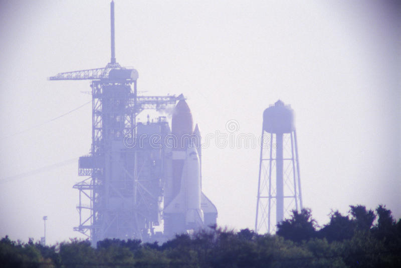 Space shuttle Discovery on the launch pad, Kennedy Space Center, Cape Canaveral, FL royalty free stock photos