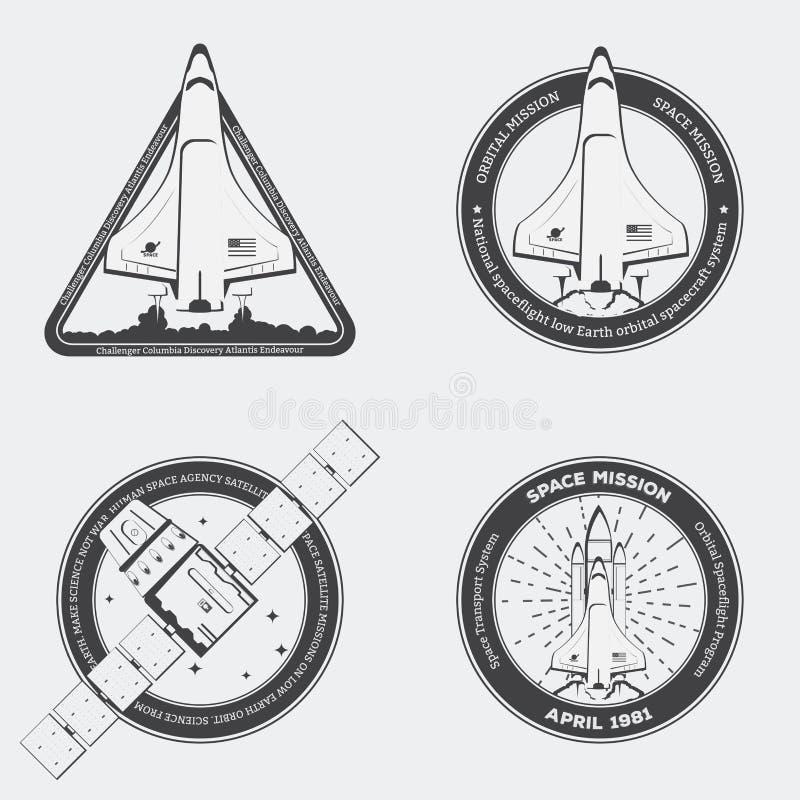 Space shuttle emblem royalty free illustration