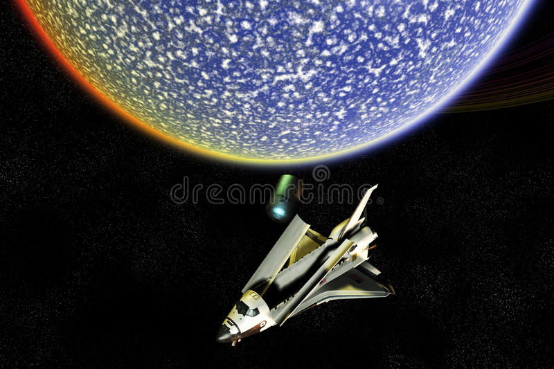 Space Shuttle Exploration Disaster Royalty Free Stock Photo