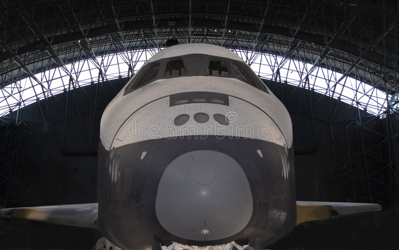 Space Shuttle Front View royalty free stock photos