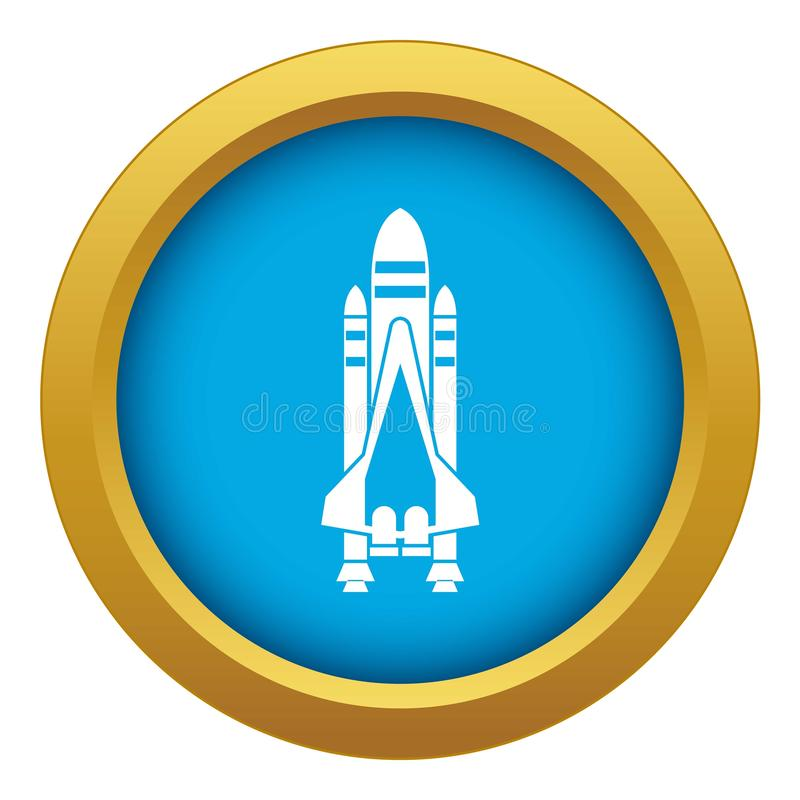 Space shuttle icon blue vector isolated vector illustration
