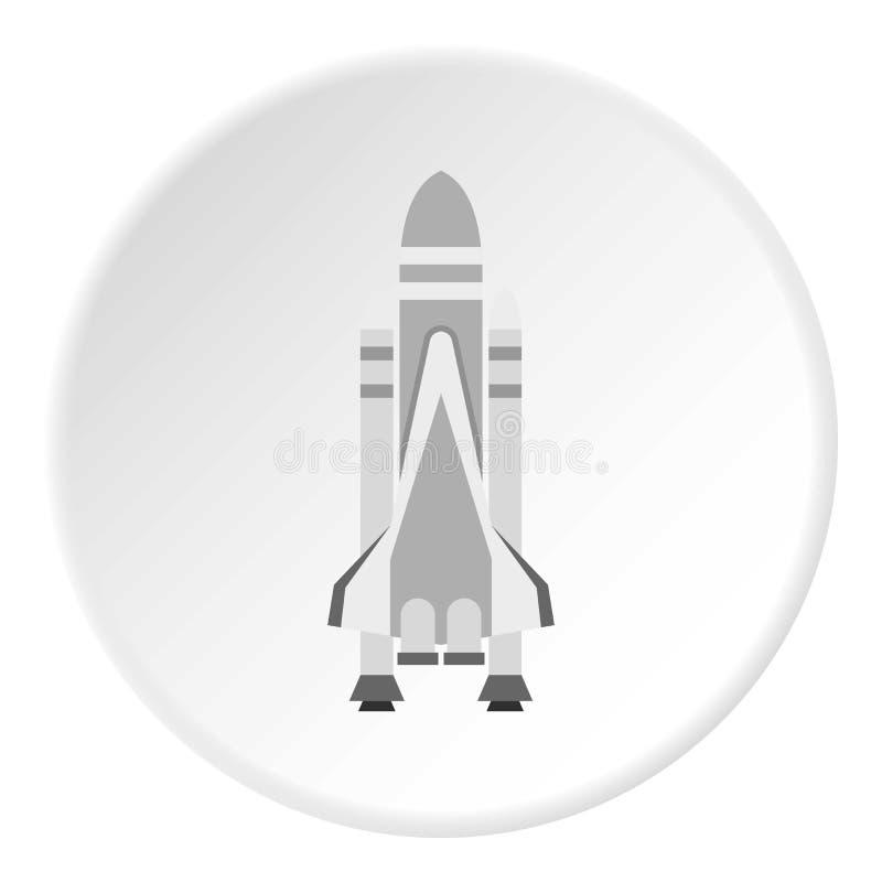 Space shuttle icon circle stock illustration