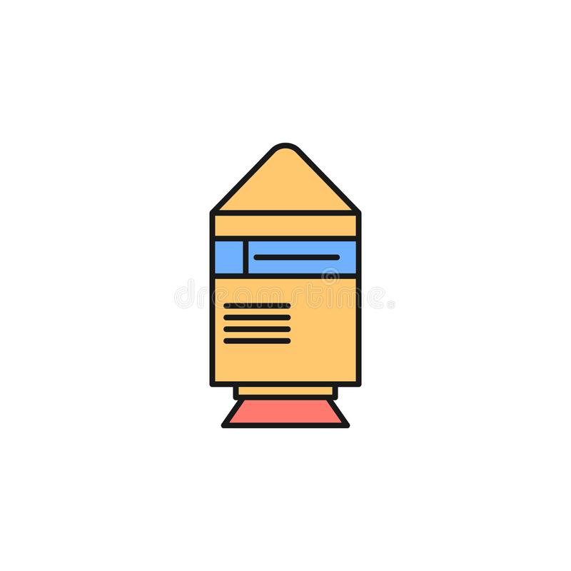 space shuttle icon. Element of space outline color icon. Thin line icon for website design and development, app development. royalty free illustration