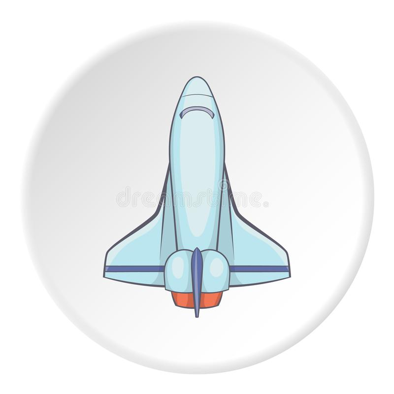 Space shuttle icon, flat icon stock illustration