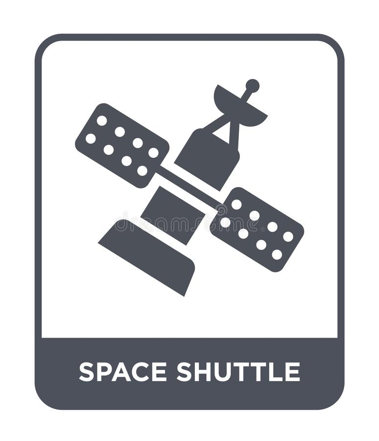 space shuttle icon in trendy design style. space shuttle icon isolated on white background. space shuttle vector icon simple and vector illustration